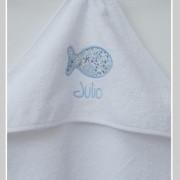 cape de bain-personnalisée-Liberty-adelajda bleu