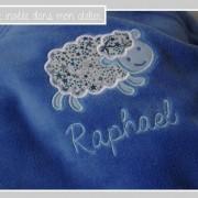 couverture pour bébé-ultra douce-Liberty adelajda bleu-cadeau de naissance