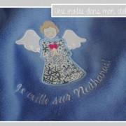couverture ultra douce- personnalisée- cadeau de naissance