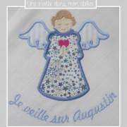 lange personnalisé-ange gardien-Liberty-adelajda bleu