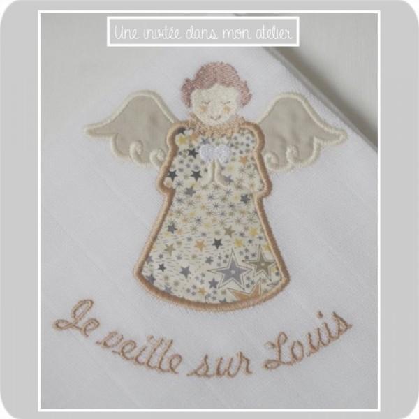 lange personnalisé-ange gardien-Liberty tadelajda beige