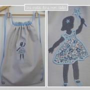 sac à dos personnalisé-Liberty-Eloise bleu