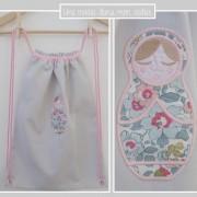 sac à dos pour enfant personnalisé-Liberty betsy porcelaine