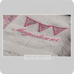 serviette de douche-personnalisée-Liberty-Fairford rose