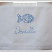 serviette invité-bébé-Liberty betsu bleu