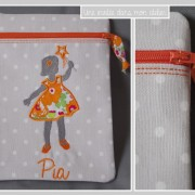 zip-trousse verticale-personnalisé-Liberty betsy orange-