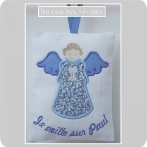 ange gardien-Dessin de Tante Menoue-Liberty pepper bleu
