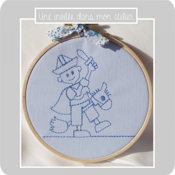 cadre-chambre enfant-Liberty adelajda bleu-cavalier