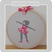 cadre tambour-danseuse-Liberty mitsi rose