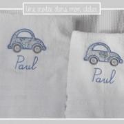 coffret de serviette de toilette et serviette de douche-personnalisé-Liberty adelajda bleu