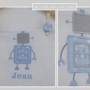 lange-personnalisé-robot-étoiles
