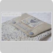 pochette à chargeurs personnalisée-Liberty adelajda beige