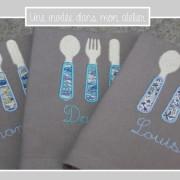 serviette de table pour enfants-3couverts-Liberty