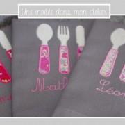 serviette de table pour enfants-fille-3couverts-Liberty