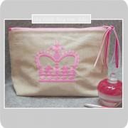 trousse_de_toilette-lin enduit-doublée-couronne-rose