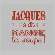 Serviette de table enfant Jacques a dit mange ta soupe