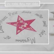 chemin-de-table-petit dîner entre amis-liberti mitsi rose-liberty mitsi gris