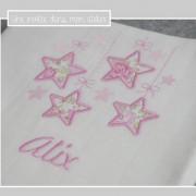 lange-étoiles suspendues-Liberty félicité rose