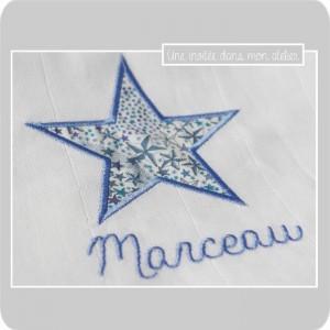 lange personnalisé-étoile-Liberty adelajda bleu