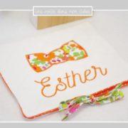 pochette-barrettes-personnalisée-Esther-Liberty betsy mandarine