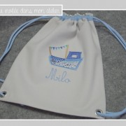 sac à dos-PF-personnalisé-Liberty adelajda bleu