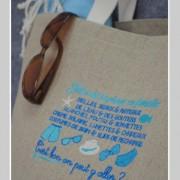 sac cabas-sac de plage-lin-plage en famillle-bleu