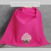 serviette de table-à pression-pour enfant-cupcake-Liberty-eloise rose-uneinvitée dans mon atelier