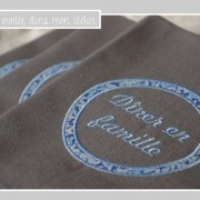 serviette de table-diner en famille-Liberty-perrenial bleu