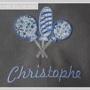 serviette de table enfants-pression-Liberty adelajda bleu
