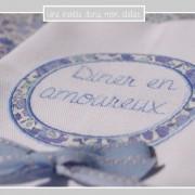 serviettes de tables-Dîner en amoureux-Miberty danjo bleu