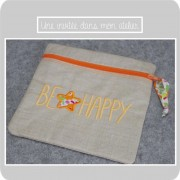 trousse carrée-be happy-Liberty betsy orange