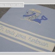 fouta-personnalisée-seau et pelle de plage-Liberty-adelajda bleu