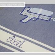 fouta-pistolet à eau-Liberty adelajda bleu