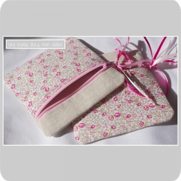 pochette zip-carrée-Liberty Eloïse rose