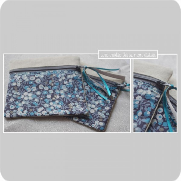p'tite zip-Liberty wiltshire blue  berry