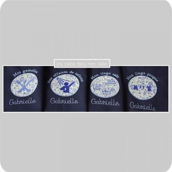 sacs de linge pour camps scout-Liberty danjo bleu - Copie