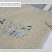 tote bag-lin-sac de musique-en avant la musique-bleu