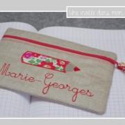 trousse-école-lin enduit-cadeau de fin d'année-atsem-Liberty-betsy grenadine