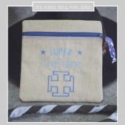 trousse carrée-cadeau-remerciements cheftaine-super cheftaine-Liberty betsy new blue