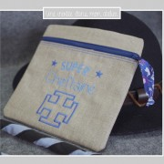 trousse carrée-super cheftaine-Liberty betsy new blue