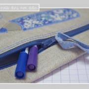 trousse-lin enduit-cadeau de fin d'année-institutrice-Liberty-delilah cavendish bleu