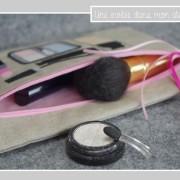 trousse-lin enduit-maquillage-rose bonbon