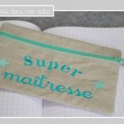 trousse-lin enduit-super maîtresse-Liberty betsy vert