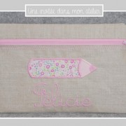 trousse plate-lin enduit-Liberty-fairford rose