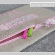 trousse plate-lin enduit-Liberty fairford rose