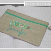 trousse-plate-personnalisée-lin enduit-Liberty-betsy vert