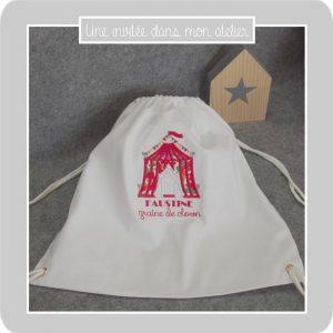 petit sac à dos- cirque-Liberty betsy grenadine