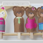 marionettes-histoire de boucle d'or et les 3 ours