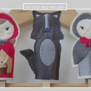 marionnette à doigts-histoire chaperon rouge