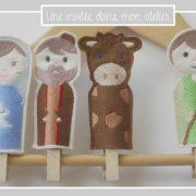 marionnettes à doigts-Crèche
